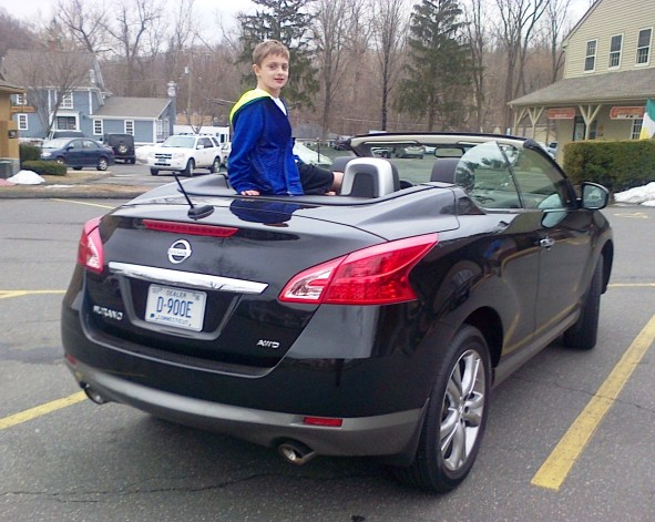 April 2015 Shawn on new car