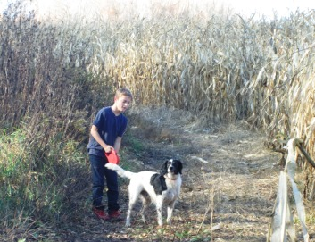November 2015 Shawn and Arrow by field