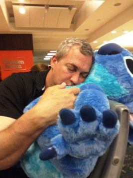 Dad sleeing with stitch